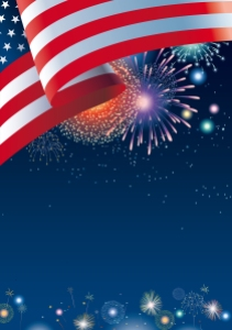 USA Colours Party Background