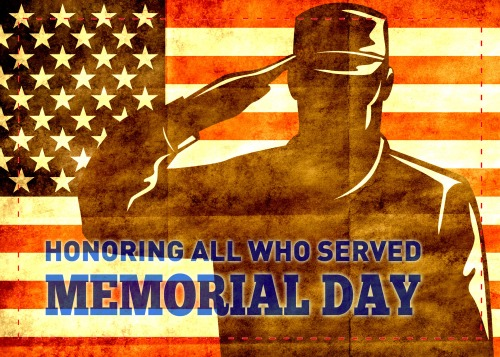 American soldier serviceman salute flag
